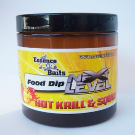 "ESSENCE BAITS FOOD DIP NEXT LEVEL "" HOT KRILL & SQUID "" 200 ML"