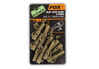 FOX EDGES SIZE 7 LEADCLIP+ PEGS KHAKI