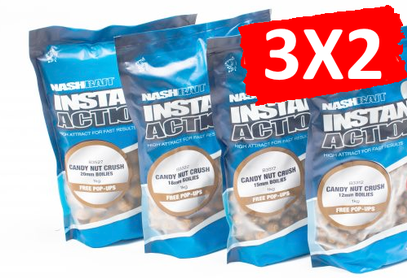 "NASH INSTANT ACTION BOILIES "" CANDY NUT CRUSH"" 1 KG 15 MM"