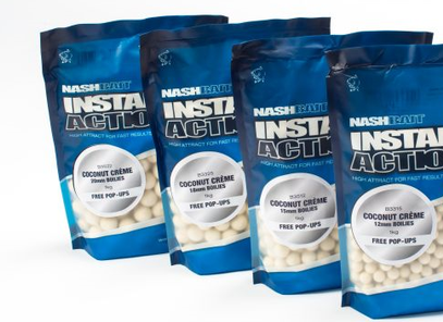 "NASH INSTANT ACTION BOILIES ""COCONUT CREME"" 1 KG + 5 POP UP GRATIS"