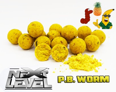 "ESSENCE BAITS "" NEXT LEVEL "" P.B. WORM  BOILIES 2 KG"