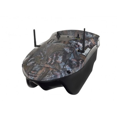 RC FISHING BOAT PREDATOR FOREST CAMO ( BATTERIE AL PIOMBO )