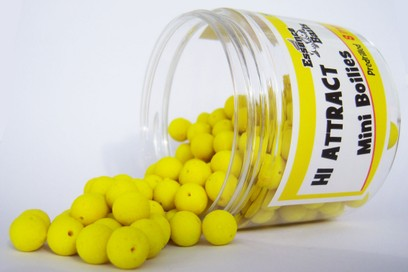 "ESSENCE BAIT MINI BOILIES 8 MM PREDRILLED "" PINEAPPLE BANANA "" (GIALLE)"