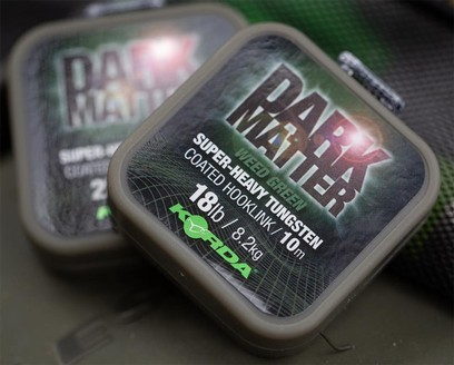 KORDA DARK MATTER TUNGSTEN COATED BRAID GREEN 25 LB