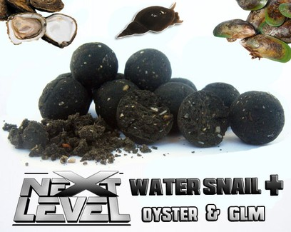 "ESSENCE BAITS "" NEXT LEVEL "" WATER SNAIL + ( OYSTER-GLM )  BOILIES 750 GR."